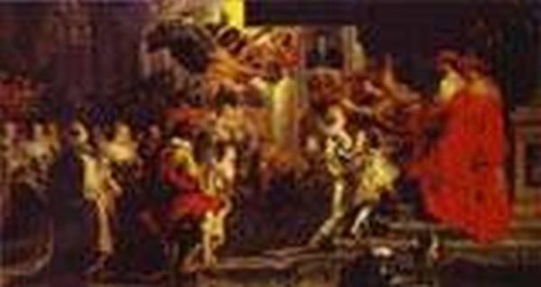 coronation of marie de medici 1621 1625 XX paris france